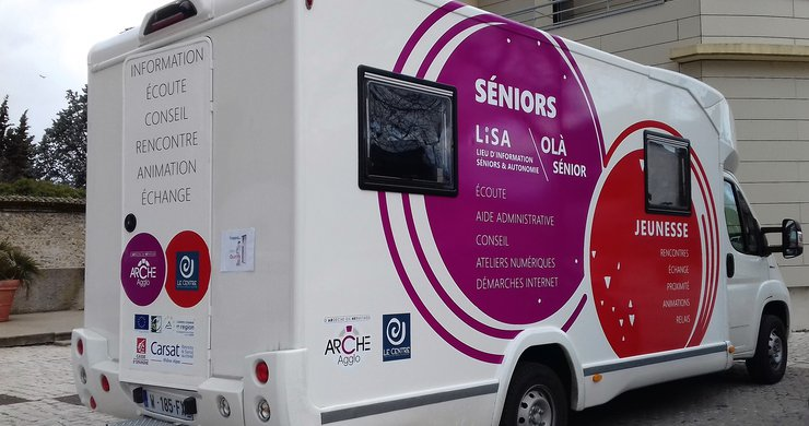 Le camping-car LISA aux couleurs de l'Agglo