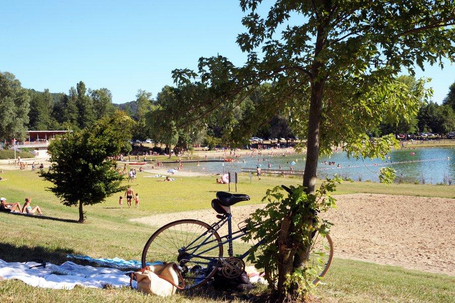 Zone baignade Lac de champos_ARCHE Agglo-drome tourisme